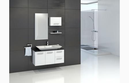 waschbecken komplett mit unterschrank eckventil. Black Bedroom Furniture Sets. Home Design Ideas