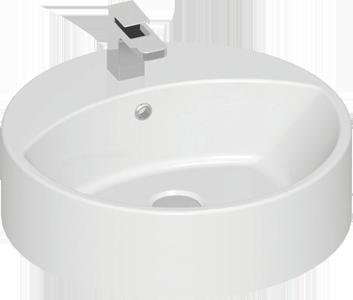 Waschbecken Aufsatzwaschbecken 45cm Rund Aufsatzwaschbecken