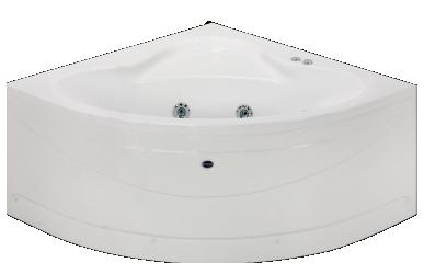 Eckbadewannen mit whirlpool badewannen eckwannen 120x120 whirlwanne mit 12 massagejets f sse - Eckbadewannen whirlpool ...