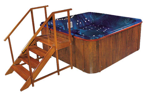 Spa Whirlpool, Jacuzzi Outdoorpool & Indoorpools 240x240cm 35 Super Jets