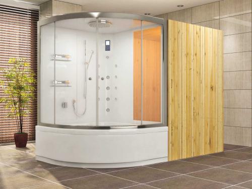 sauna badewanne dusche sauna compact sytem dokstar 120x240 badshop baushop bauhaus. Black Bedroom Furniture Sets. Home Design Ideas