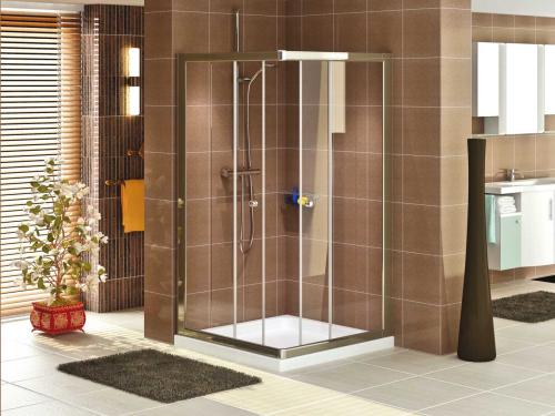duschkabine eckeinstieg mit 2 t ren eckdusche 90x90 duschwanne duschpaneel badshop. Black Bedroom Furniture Sets. Home Design Ideas