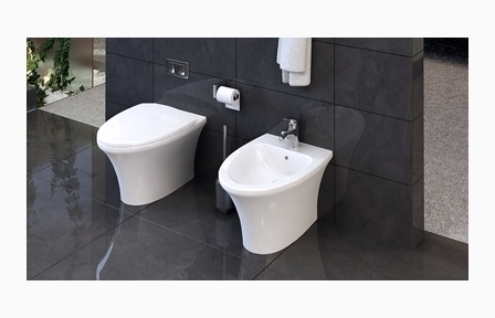 stand wc tiefsp l wc stand wc mit keramik sp lkasten h nge bidet keravit krearena ideal. Black Bedroom Furniture Sets. Home Design Ideas