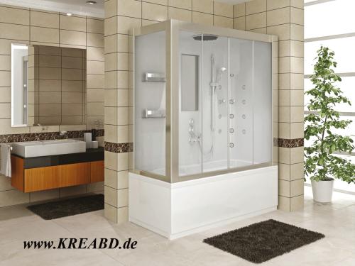 Badewanne Duschkabine Massagedusche Rechteck Dusche 190x80 Compact System  Kreafresh