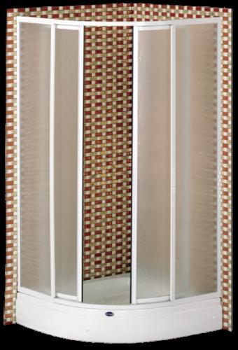 runddusche duschkabine 85x85cm 175cm h he viertelkreis duschkabinen badshop baushop bauhaus. Black Bedroom Furniture Sets. Home Design Ideas