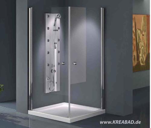 duschkabinen eckdusche eck duschkabinen 90x90 x 180 eckeinstieg badshop baushop bauhaus. Black Bedroom Furniture Sets. Home Design Ideas