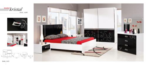 Schlafzimmer Schlafzimmermobel Kleiderschrank Bett Kommode Kristal