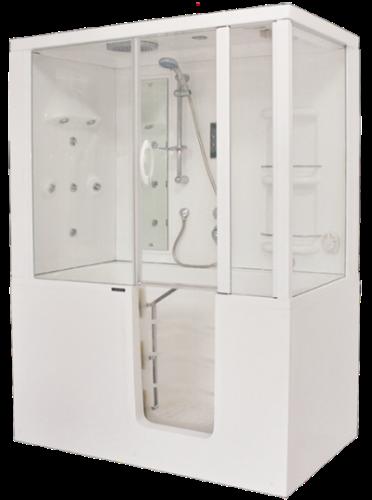 Badewanne mit dusche und einstieg  Barrierefreie Badewanne & Dusche - Badshop, Baushop, Bauhaus ...