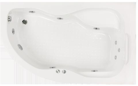 Badewanne Raumsparwanne 160x100 Rechts Mit Wannentrager Fusse