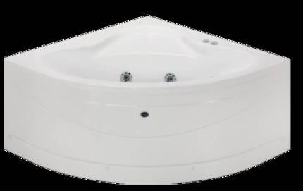eckbadewanne mit whirlpool eckwhirlwanne 110x110 9 wasserjets vormontierte f sse sch rze. Black Bedroom Furniture Sets. Home Design Ideas