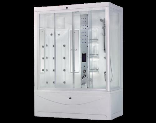 Badewanne Massagedusche 190x95 Wellness Bad & Dusche badewannen duschen  kombination Compact System
