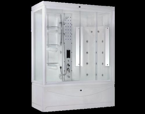 Badewanne Massagedusche 190x85 Wellness Bad & Dusche badewannen duschen  kombination Compact System