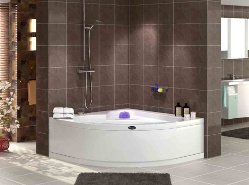 eckbadewanne eckwanne eck badewanne 120x120 flibos f sse sch rze badshop baushop bauhaus. Black Bedroom Furniture Sets. Home Design Ideas
