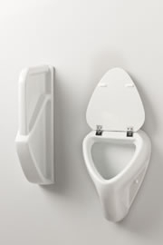urinal mit deckel pissuar pissoir tp 630 1 badshop. Black Bedroom Furniture Sets. Home Design Ideas