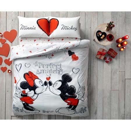 Disney Mickey Maus Minnie Maus Adore 3 Tlg Set Bettwäsche 200 X