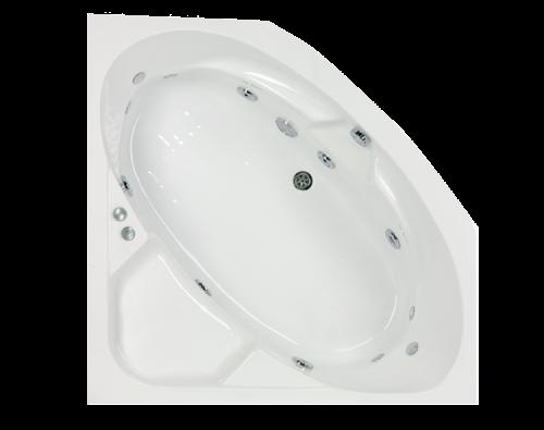 raumspar whirlpool eckbadewanne whirlwanne 140x140cm mit 12 massagejts f sse und sch rze. Black Bedroom Furniture Sets. Home Design Ideas