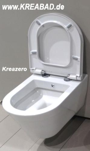 taharet bidet dusch wc wand wc mit soft close wc und verdeckten wc befestigungen kreazero. Black Bedroom Furniture Sets. Home Design Ideas