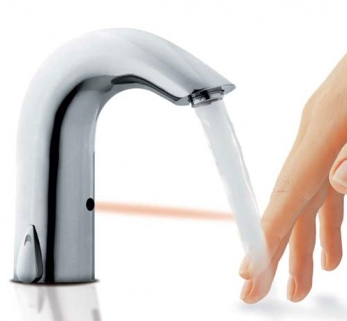Infrarot Waschtisch Armatur Classic Infrarot (IR) Sensor Waschbecken  Armatur Kalt/Warmwasseranschluss