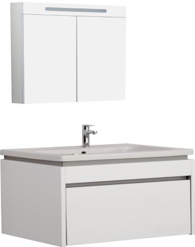Idea Badmobel Set 110cm Mit Waschtisch Und Spiegelschrank 100cm