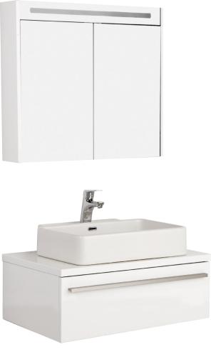 Badezimmer Unterschrank Mit Waschbecken   Badmobel Set Badezimmer Unterschrank 80cm Mit Waschbecken Und