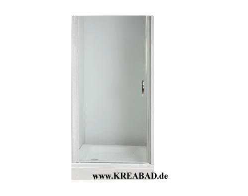 Duschtür Drehtür Dusche für Nischen Dusche Schwingtür 70cm bis 73cm  Sicherheitsglas Alu Profile Weiß