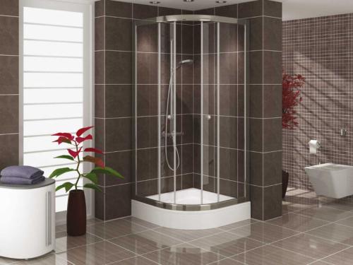 Runddusche duschkabine 100x100 x 180cm h he glasdusche for Bilder duschkabinen