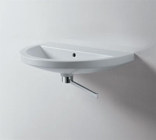waschbecken 70x45cm handwaschbecken mit hahnloch und. Black Bedroom Furniture Sets. Home Design Ideas