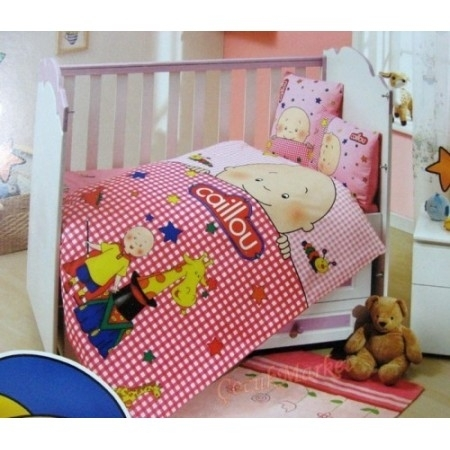 caillou baby bettw sche bettbezug set 100 x 150 cm pink badshop baushop bauhaus sanit r. Black Bedroom Furniture Sets. Home Design Ideas