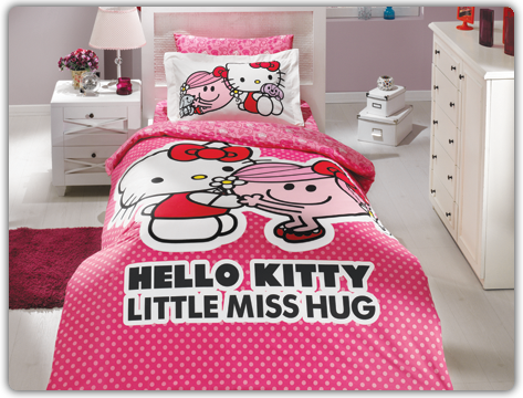 Hello Kitty Bettwäsche Bettbezug Set Pink 160x220 Badshop Baushop