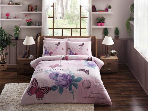 Bettwäsche Set Nina Pink Bettdeckenbezug 160x220cm Bettlaken 180x260cm Kissenbezug 50x70