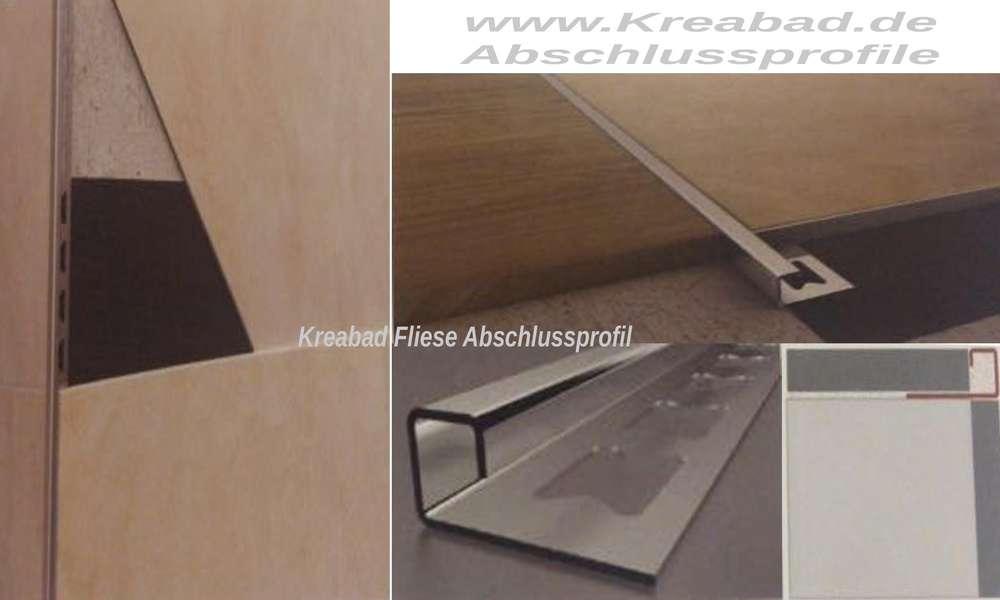 Neu Fliesen Abschlussprofil 10mm 2,50m Fliesen Abschlussleiste Profile  RH17