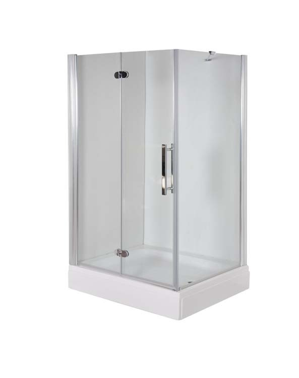 Duschtür Falttür mit Seitenwand 100x70cm Faltür 100cm x Seitenwand 70cm  Ikon Dmax Höhe 190cm