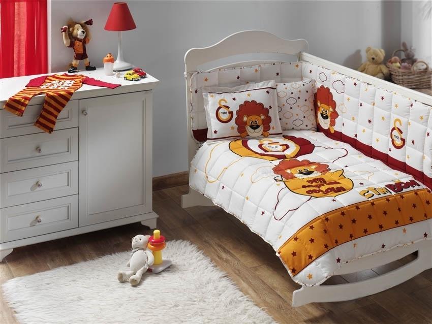Galatasaray Baby Bettwäsche Set Steppdecke Cimbom Heimtextilien