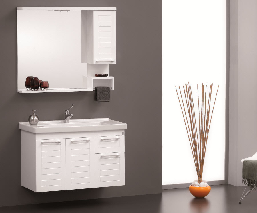 Badmöbel perge 100cm badzimmer möbel bathroom furniture