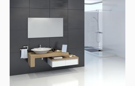 Badmöbel, Unterschrank Waschbecken Spiegelschrank Krearena Badmöbel ...