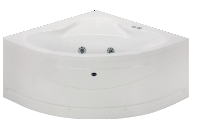 badewanne eckbadewanne whirlwanne whirlpool 130x130 mit h henverstellbaren f ssen sch rze 6. Black Bedroom Furniture Sets. Home Design Ideas