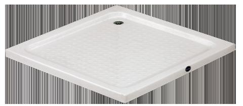 neu.haus Duschwanne 80x80cm reinweiß Duschtasse quadratisch extra flach Bad