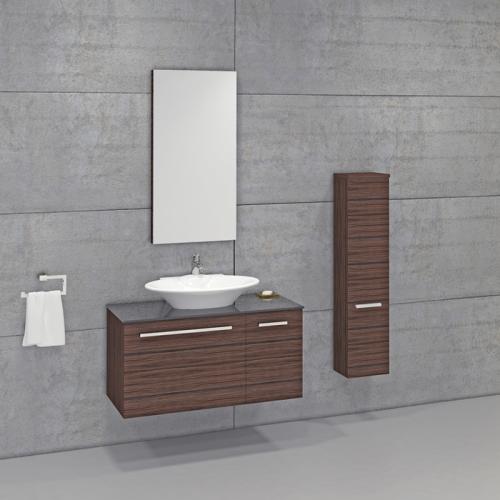 Badmöbel Komplett Set Keravit SL Aufsatzwaschbecken