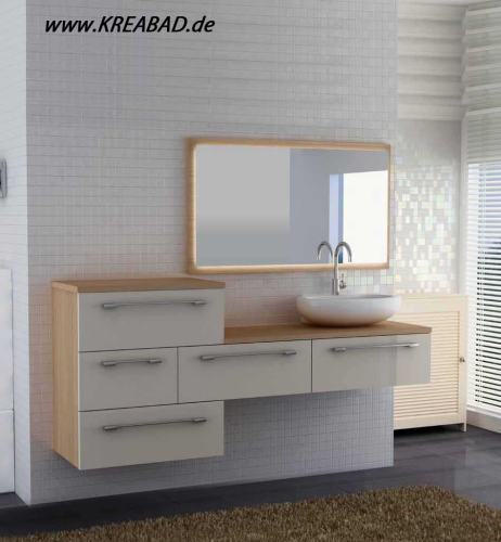 Badmöbel Badezimmer Badmoebel Kreareana Komplet Set - Badshop ...