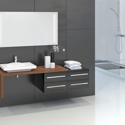 Top Badmöbel Set Unterschrank Waschbecken Spiegelschrank Kreavega #JM_26