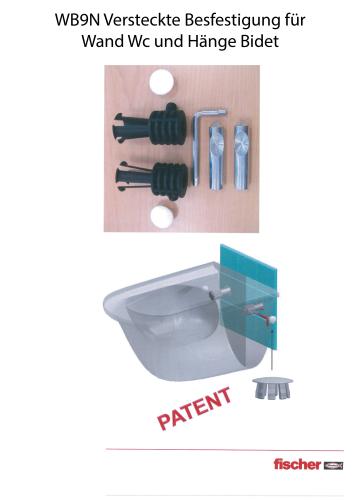wandh nge wc und h nge bidet fischer verdeckte befestigung schrauben system wandh nge wc und. Black Bedroom Furniture Sets. Home Design Ideas