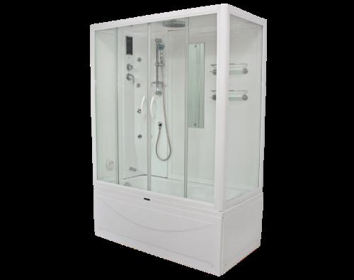 Badewanne Massagedusche 190x70 Wellness Bad Dusche Compact System