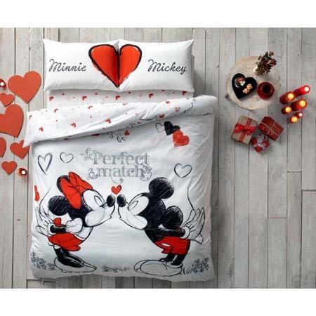 Disney Mickey Maus & Minnie Maus Adore 3 tlg. Set Bettwäsche 200 x ...
