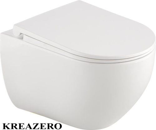 Wand Wc mit Soft Close Absenkautomatik Wc Sitz Klohbrille Kreazero