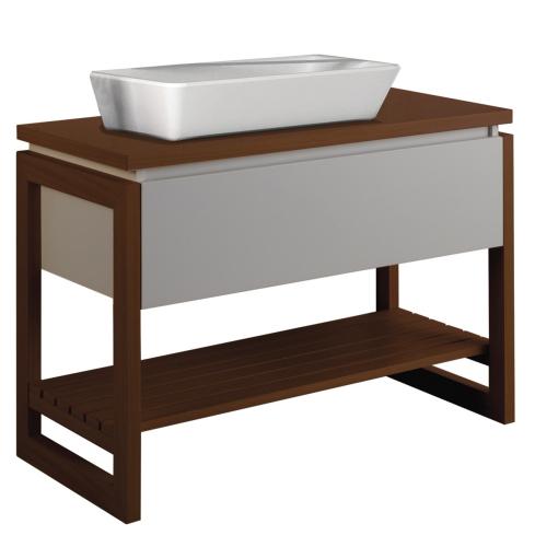 badm bel unterschrank teak weiss matt 90cm mit. Black Bedroom Furniture Sets. Home Design Ideas