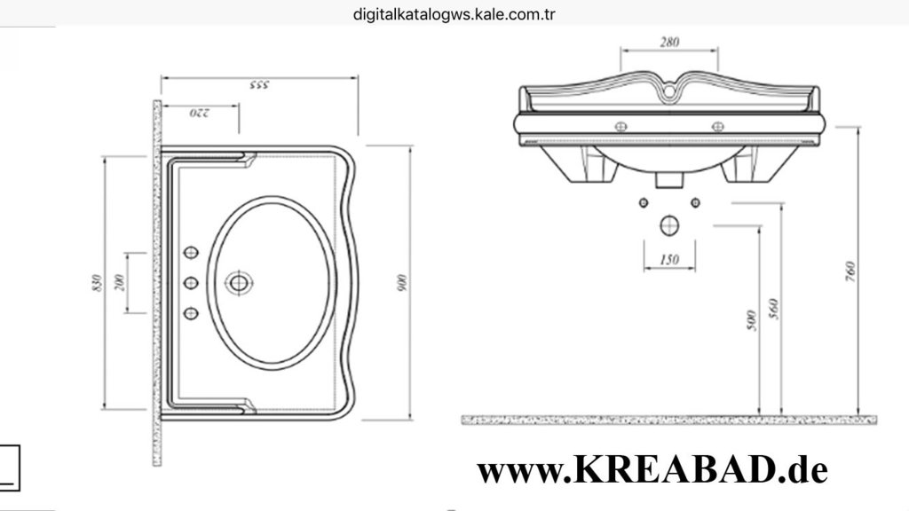 Berühmt Handwaschbecken Waschbecken, Waschtische, Einbauwaschbecken LU62