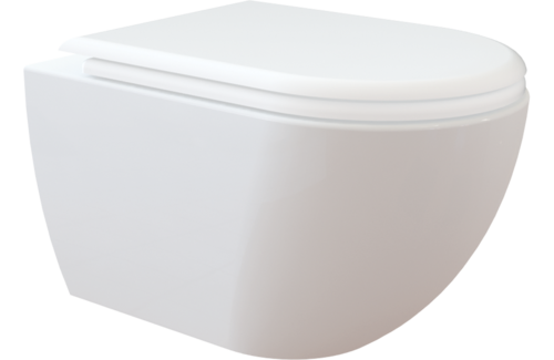 Rim-off Dusch Taharet Wc mit Soft Close Wc Sitz  Spülrandlos Creavit Free 321 Fe 321 direct Flush