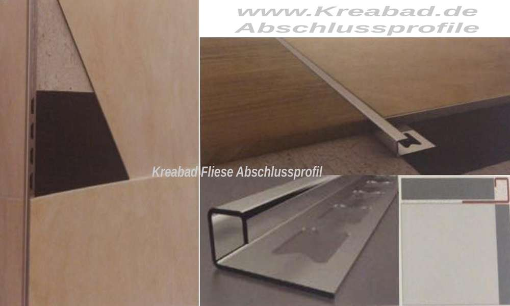 Fliesen Abschlussprofil 11mm 250cm Edelstahlschiene V2a Glanzend Edelstahl Fliesenschiene