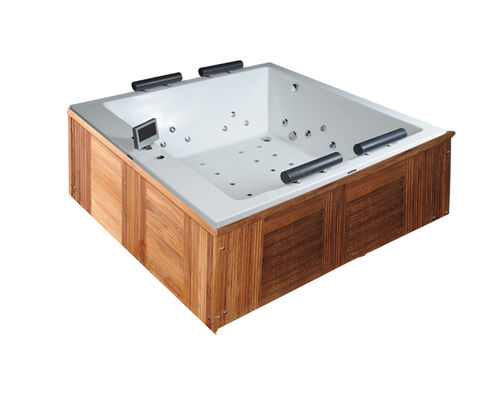 Eros Spa Whirlpool 185x185 Indoor & Outdoor + Irok Holz Schürze