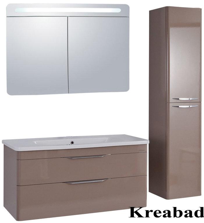 Bekannt Badmöbel Urban 80cm Waschbecken ohne Hahnloch + Spiegelschrank + YS43